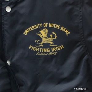 70a5905d3 Norte dame coach s college team jacket